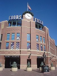 Main Entrance of Coors Field in Denver, Colorado
