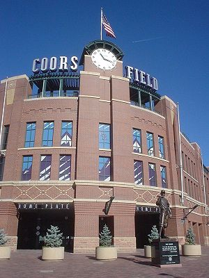 Coors Field - Main entrance to the ballpark