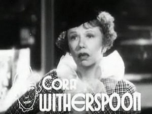 Cora Witherspoon - As Gypsy in Dangerous Number (1937)