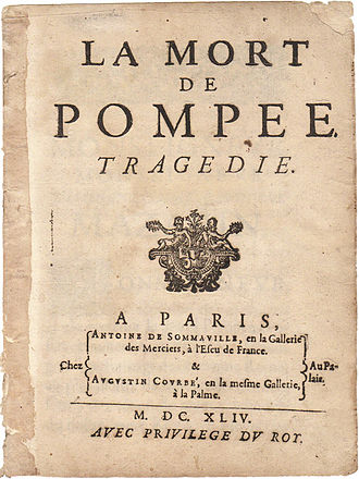 The Death of Pompey - First publication of The Death of Pompey