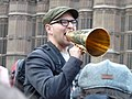 Cory Doctorow protesting Digital Economy Act.jpg