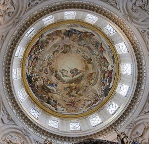 Val-de-Grâce (church) - La gloire des Bienheureux, fresco of the cupola by Pierre Mignard