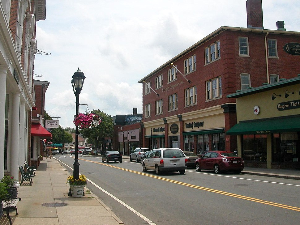Court Street in Plymouth, facing south