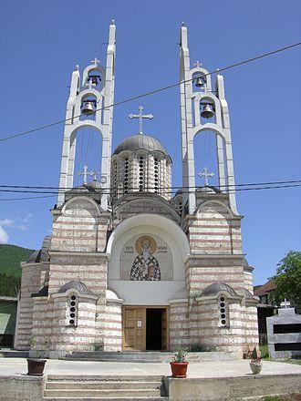 Leposavić - Image: Crkva Svetog Vasilija Ostroškog, Leposavić
