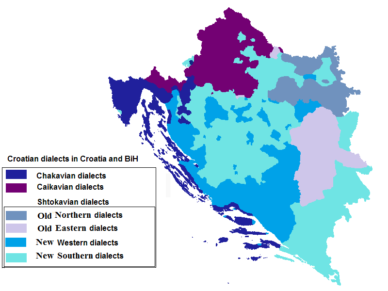 Croatian dialects in RH and BiH