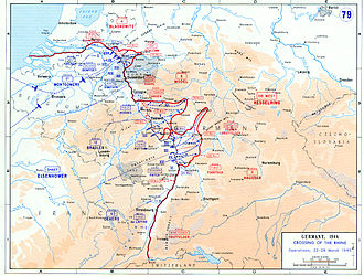 Western Allied invasion of Germany - The crossing of the Rhine between 22 and 28 March 1945.