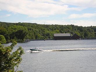 Muskegon River - Image: Croton Dam Muskegon River DSCN1104