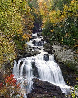 Nantahala National Forest - Cullasaja Falls, Nantahala National Forest, in Macon County, North Carolina