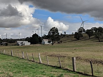 Cullerin Range Wind Farm - Cullerin Range Wind Farm from the eastern side of the Cullerin Range