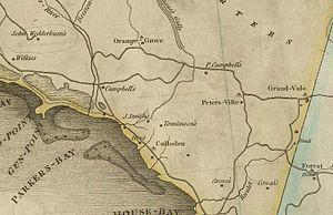 John Wedderburn of Ballendean - 1804 map of Parker's Bay, Westmoreland, Jamaica, showing John Wedderburn's land on the left