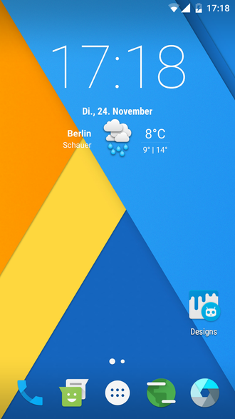 Custom firmware - CyanogenMod 13 homescreen german