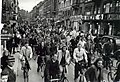 Cyclists at Nørrebrogade in Copenhagen (1940-45) (9265551719).jpg