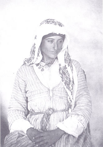 Turkish Cypriots - A Cypriot (Turkish) Muslim woman, 1878.
