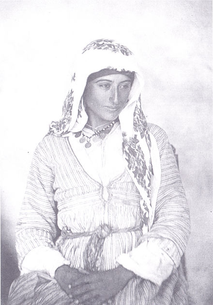 A Cypriot woman in traditional Turkish fashion, 1878
