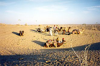 North India - The Thar desert near Jaisalmer, Rajasthan