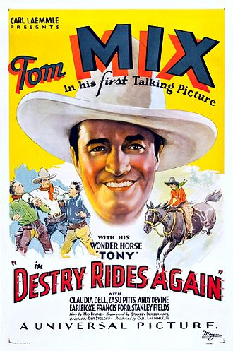 Destry Rides Again (1932 film) - film poster