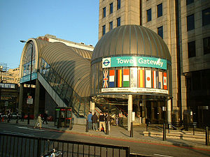 Docklands Light Railway - Tower Gateway station was the DLR's original link to central London.