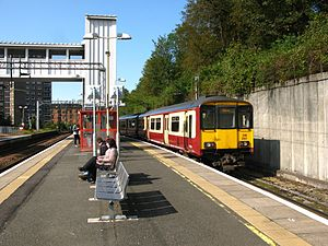 Dalmuir railway station - The Yoker route platforms