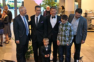 Dan Savage - Dan Savage and Terry Miller's wedding at Seattle City Hall attended by Mayor Mike McGinn on December 9, 2012, the first day of same-sex marriage in Washington.