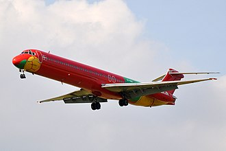 Danish Air Transport - Image: Danish Air Transport (DAT), Mc Donnell Douglas MD 83, OY RUE CDG (18985604660)