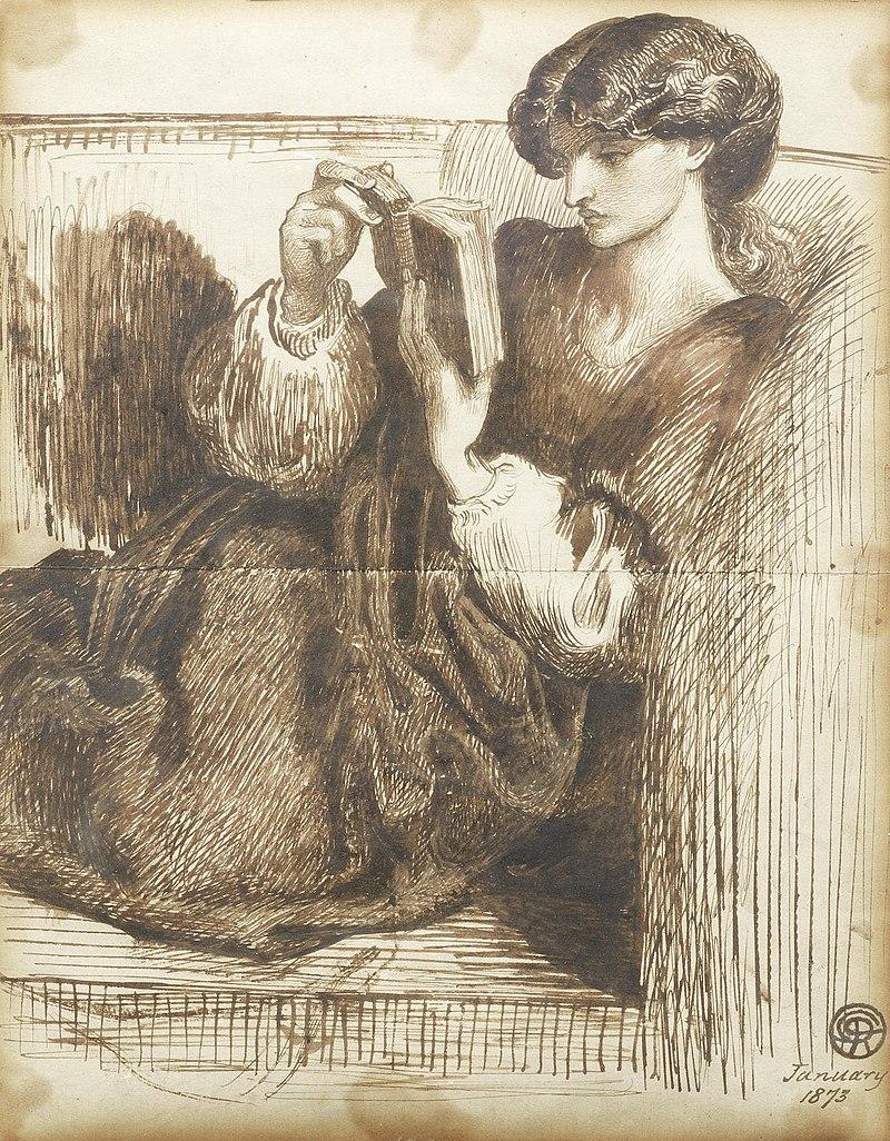 Dante Gabriel Rossetti - Portrait of Jane Morris (1873 January).jpg