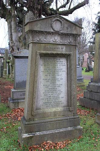 David Cousin - David Cousin's memorial, Dean Cemetery