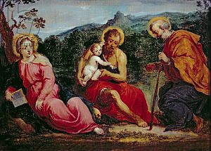 Holy Family in a Landscape with John the Baptist
