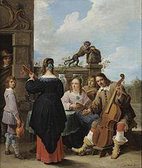 A Family Concert on a Terrace