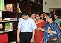 Dayanidhi Maran visits after inaugurating the 'Museum Shop' by the Handlooms and Handicrafts Export Corporation (HHEC), with new product line, at National Museum, in New Delhi on September 28, 2010.jpg