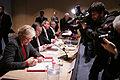 De nordiska finansministrarna tecknar avtal om skatteflykt med finansministrarna fran Jersey och Guernsey vid Nordiska Radets session i Helsingfors. Narmast Norges finansminister.jpg