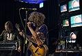 Death Hawks esiintyy Tiivistämön Mixradio Music Hall -lavalla Flow Festival 2014.jpg