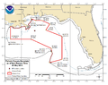 Deepwater Horizon Oil Spill Fishing Closure 2010-05-25.png