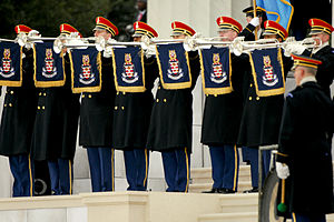 United States Army Band - The Army Herald Trumpets, the official fanfare ensemble for the President of the United States in 2009.