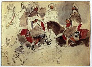 1832 painting by Eugène Delacroix