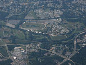 Delaware Park Racetrack - Aerial view of Delaware Park Racetrack