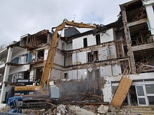 Perfect Demolition Of A Hotel In Southern England.