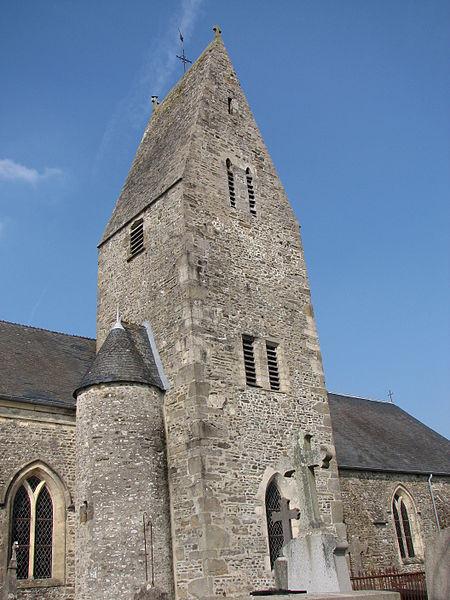 Clocher de l'église de Denneville, Manche, NormandieDenneville churche bell tower, Normandy