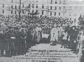 """Depunerea jurământului """"Consiliului soldaților și ofițerilor români din Transilvania, Bucovina, Ungaria și Viena"""" din 31 octombrie 1918.png"""