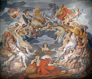 English: The Circle of Life. Ceiling fresco in...