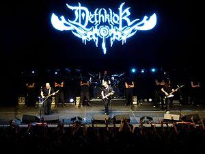 Dethklok - Mike Keneally, Brendon Small, Gene Hoglan and Bryan Beller performing live at The Tabernacle in Atlanta, GA, on December 8, 2012.