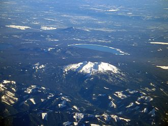 Diamond Peak Wilderness - Diamond Peak and Crescent Lake from the west.