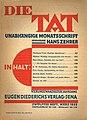 Die Tat. Monatsschrift zur Gestaltung neuer Wirklichkeit. März 1933.jpg