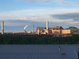 Differdange - Differdange steel mill, operated by Luxembourg company ArcelorMittal