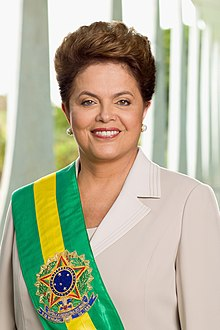Portrait officiel de Dilma Rousseff, 2011.