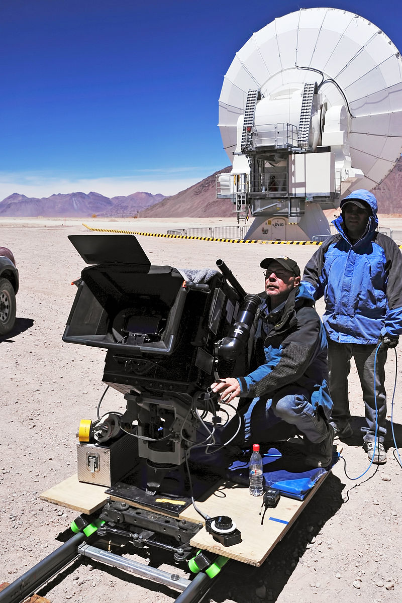 Director of Photography for IMAX%C2%AE 3D movie Hidden Universe, Malcolm Ludgate, with IMAX camera.jpg