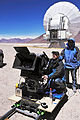 Director of Photography for IMAX® 3D movie Hidden Universe, Malcolm Ludgate, with IMAX camera.jpg
