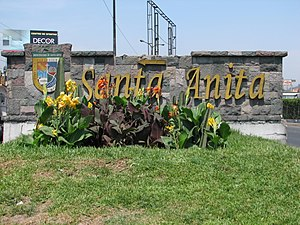 District sign Peru Lima Santa Anita.jpg