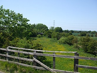 Hull and Barnsley and Great Central Joint Railway - Former trackbed of the Hull and Barnsley and Great Central Joint Railway north of Thorpe in Balne