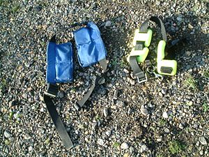 Diving weighting system - A bag weight belt and a traditional weight belt