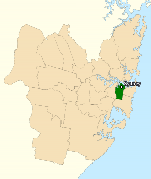 Division of Sydney - Division of Sydney in New South Wales, as of the 2016 federal election.